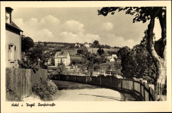 Ak Sohl Bad Elster im Vogtland, Dorfstraße, Teilansicht vom Ort
