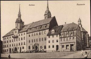 Ak Roßwein in Sachsen, Rathaus