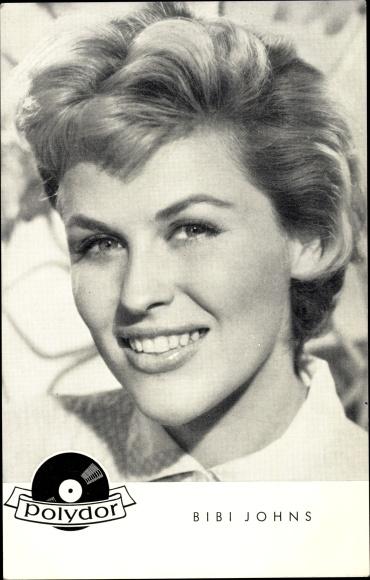 Ak Sängerin und Schauspielerin Bibi Johns, Portrait, Polydor Schallplatten