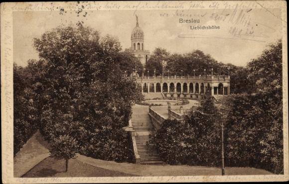 Ak Wrocław Breslau Schlesien, Liebichshöhe