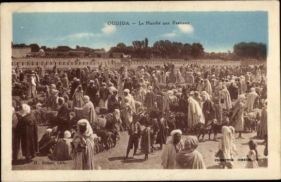 Ak Oudjda Oujda Marokko, Le Marché aux Bestiaux