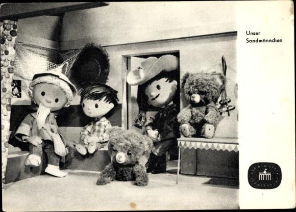 Ak Unser Sandmännchen, Sandmann, DDR Kinderfernsehen, Teddybären, S 73