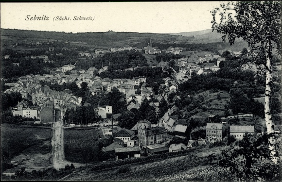 Ak Sebnitz in Sachsen, Totale