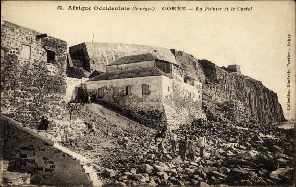 Ak Gorée Senegal, Afrique Occidentale, La Falaise et le Castel