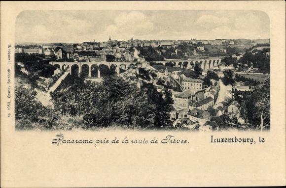 Ak Luxemburg, Panorama pris de la route de Trèves