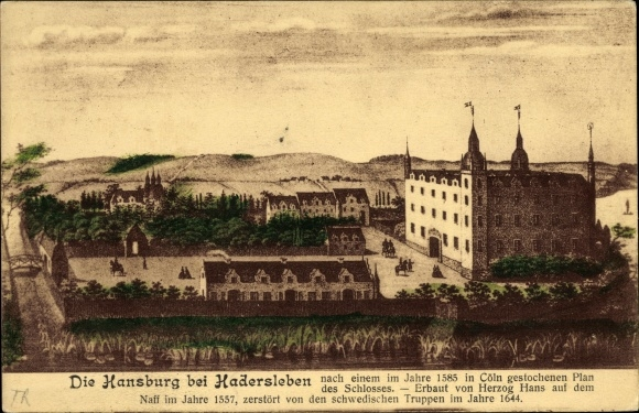 Künstler Ak Haderslev Hadersleben Dänemark, Hansburg