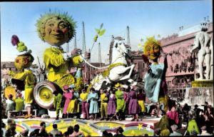 Ak Nice Nizza Alpes Maritimes, Carnaval, La Féerie du Ciel de Nice, geschmückter Festwagen