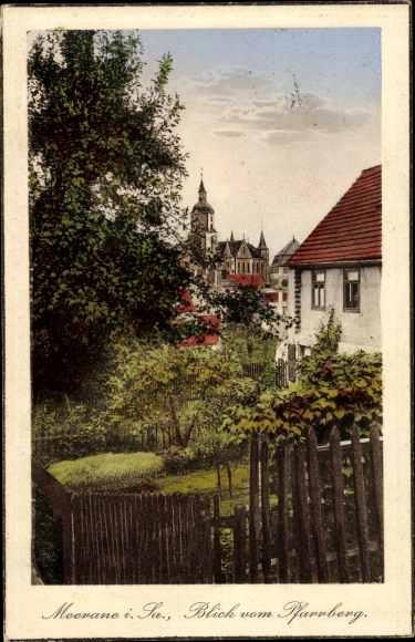 Ak Meerane in Sachsen, Blick vom Pfarrberg