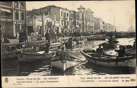 Ak Thessaloniki Griechenland, Le Quai Constantin