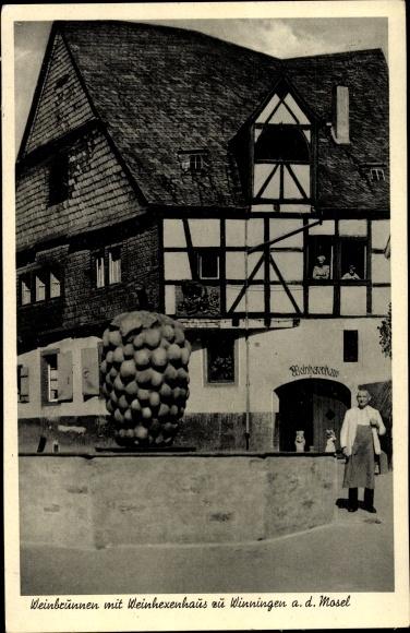 Ak Winningen Rheinland Pfalz, Weinbrunnen, Weinhexenhaus 0