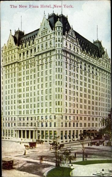 Ak New York City USA, New Plaza Hotel 0