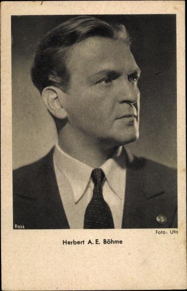 Ak Schauspieler Herbert A. E. Böhme, Portrait, Ross Verlag 0
