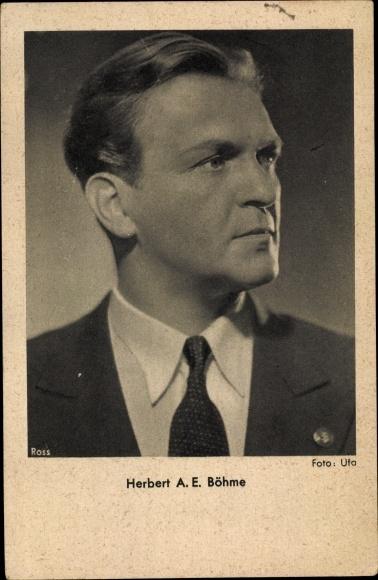 Ak Schauspieler Herbert A. E. Böhme, Portrait, Ross Verlag