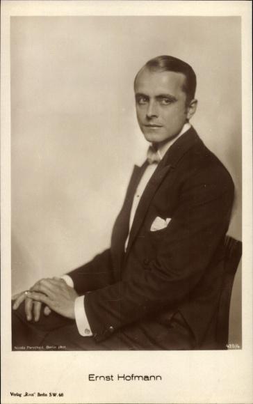 Ak Schauspieler Ernst Hofmann, Portrait