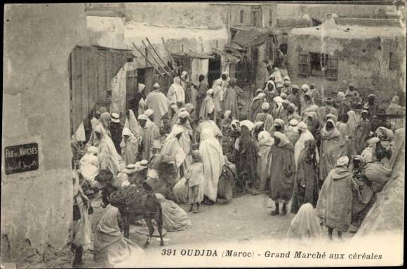 Ak Oudjda Oujda Marokko, Grand Marché aux céréales