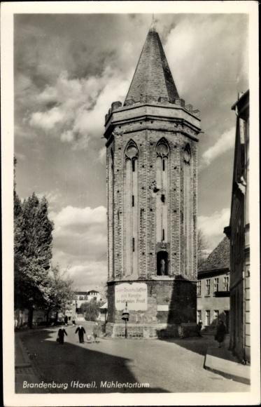Ak Brandenburg an der Havel, Mühlentorturm 0