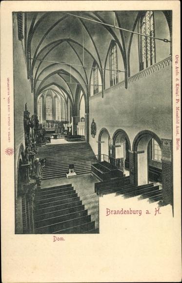Ak Brandenburg an der Havel, Dom, Inneres 0