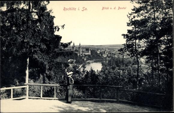 Ak Rochlitz an der Mulde, Blick von der Bastei