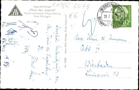 Ak Breungeshain Schotten im Vogelsbergkreis Hessen, DJH Jugendherberge Haus der Jugend 1
