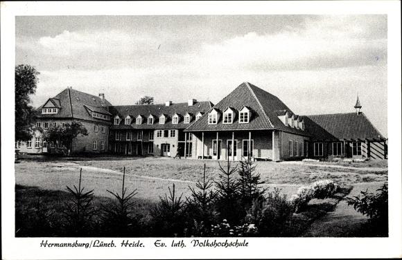 Ak Hermannsburg Südheide Niedersachsen, Ev. luth. Volkshochschule 0