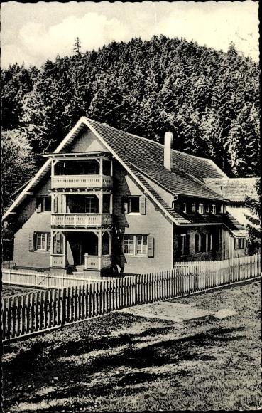 Ak Bonndorf im Schwarzwald Kreis Waldshut, Kindererholungsheim Steinabad 0