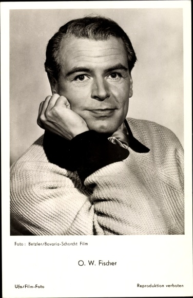 Ak Schauspieler O.W. Fischer, Portrait 0