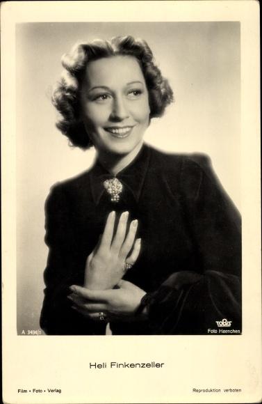 Ak Schauspielerin Heli Finkenzeller, Portrait 0