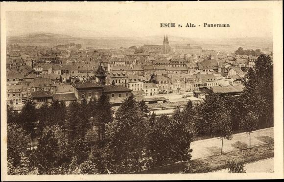 Ak Esch an der Alzette Luxemburg, Panorama 0