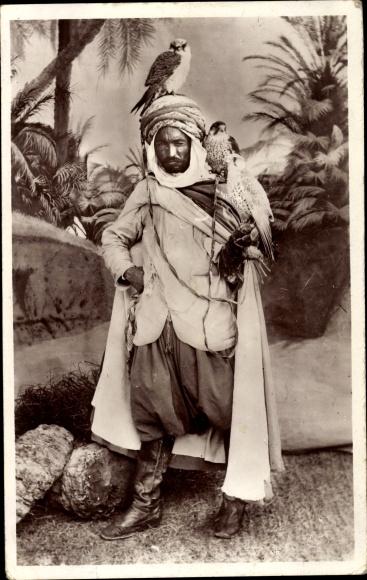 Ak Maghreb, Scènes et Types, Un Fauconniers, Falkner 0