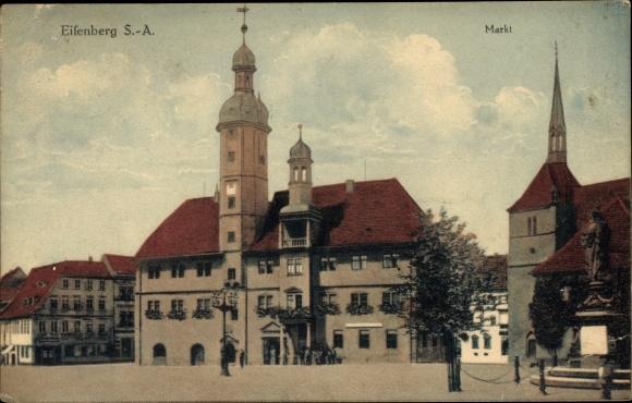 Ak Eisenberg Thüringen, Markt 0