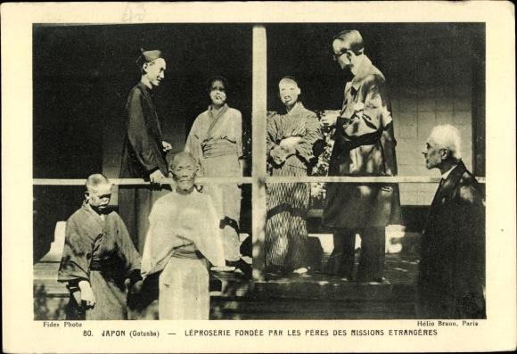 Ak Gotemba Präf. Shizuoka Japan, Léproserie fondée par les Pères des Missions Etrangères 0