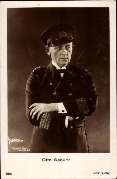 Ak Schauspieler Otto Gebühr, Portrait, Seemannsuniform, Amag 655 0
