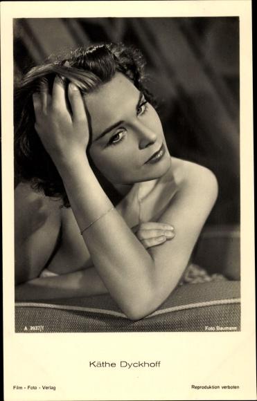 Ak Schauspielerin Käthe Dyckhoff, Portrait, A 3937 1 0