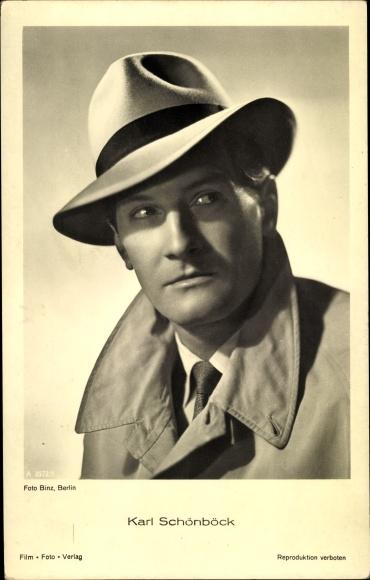Ak Schauspieler Karl Schönböck, Portrait, Hut