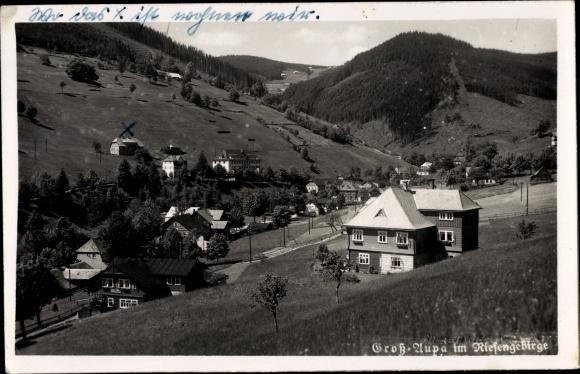 Ak Velká Úpa Groß Aupa Pec pod Sněžkou Petzer Reg. Königsgrätz, Panorama vom Ort 0