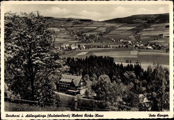 Ak Deštné v Orlických horách Deschnei im Adlergebirge Königgrätz, Hubert Birke Haus 0