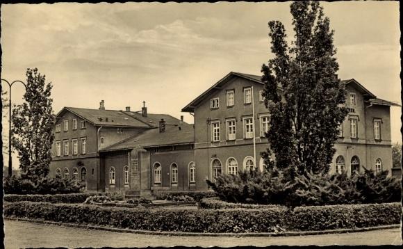 Ak Hainichen in Sachsen, Bahnhof 0