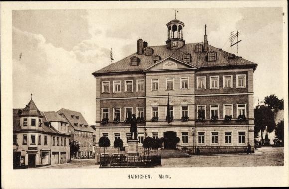 Ak Hainichen in Sachsen, Markt 0