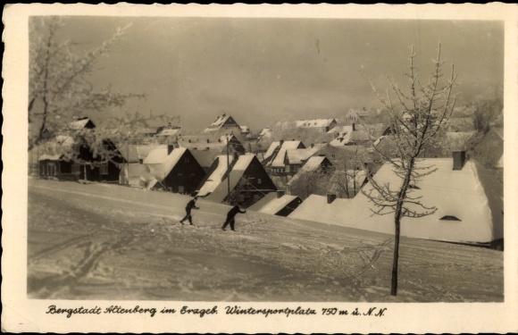 Ak Altenberg im Osterzgebirge, Ort im Winter 0