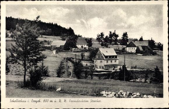 Ak Schellerhau Altenberg im Erzgebirge, Fremdenheim Strecker 0