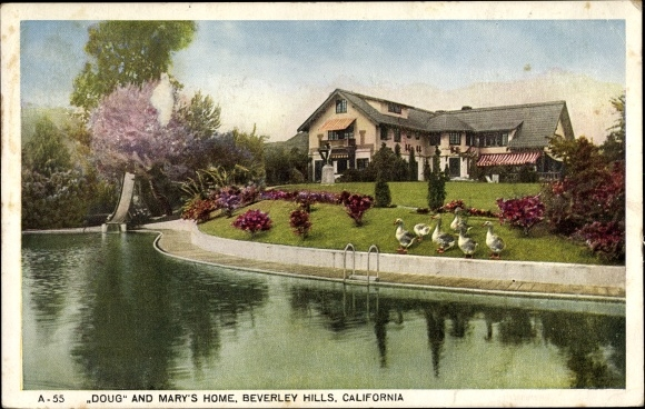 Ak Beverly Hills Kalifornien USA, Pickfair, Mary Pickford, Douglas Fairbanks 0