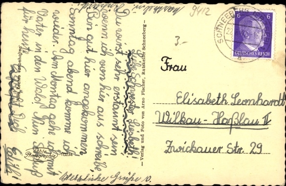 Ak Schneeberg im Erzgebirge, St. Wolfgang Kirche 1