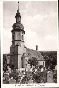 Ak Bockau Sachsen, Kirche, Friedhof