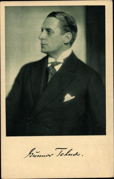 Ak Schauspieler Gunnar Tolnæs, Portrait 0