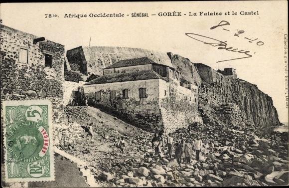 Ak Goree Senegal, La Falaise et le Castel 0