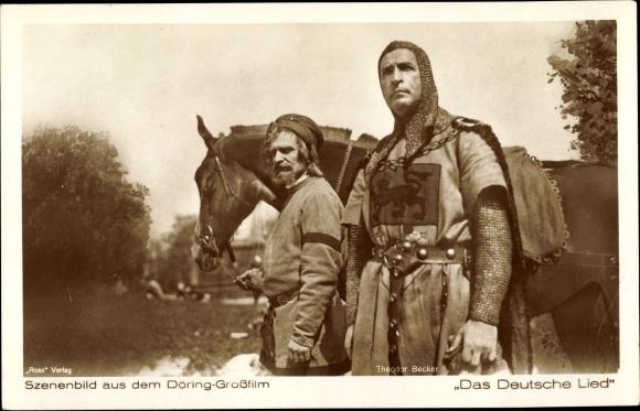 Ak Filmszene Das Deutsche Lied, Schauspieler Theodor Becker 0
