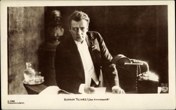 Ak Schauspieler Gunnar Tolnaes, Filmszene Das Himmelsschiff