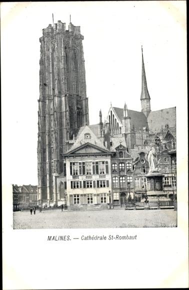Ak Mechelen Malines Flandern Antwerpen, Cathédrale Saint Rombaut