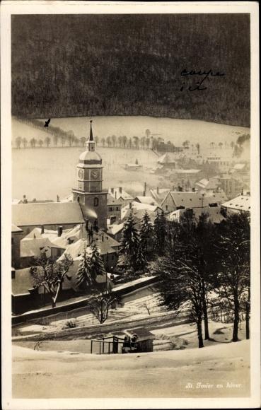 Ak Kanton Bern, St. Imier en hiver, neige 0
