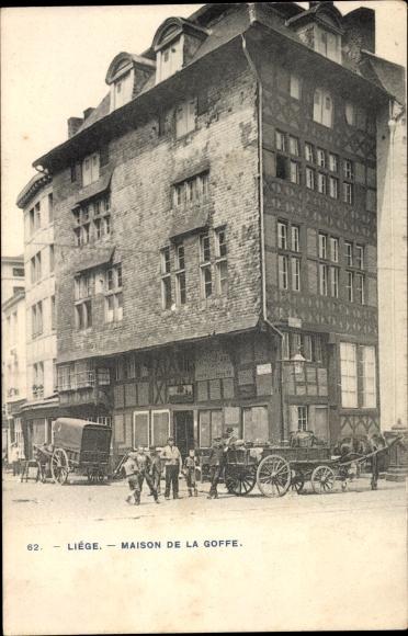 Ak Liège Lüttich Wallonien, Maison de la Goffe 0